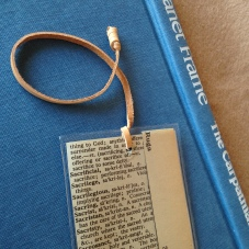 Found Words with leather cord